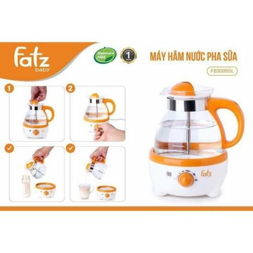 Bh 1 đổi 1 trong 12 tháng - máy hâm nước pha sữa 600ml có đồng hồ đo nhiệt độ fatzbaby fb3009sl