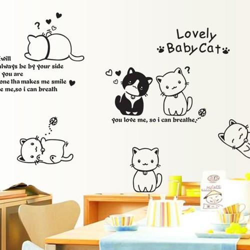 Decal dán tường mèo lovely baby cat - 17811373 , 22348789 , 15_22348789 , 75000 , Decal-dan-tuong-meo-lovely-baby-cat-15_22348789 , sendo.vn , Decal dán tường mèo lovely baby cat