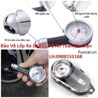 Đồng hồ đo áp suất lốp xe máy ô tô loại 1 đựng hộp nhựa cứng - bảo vệ gia đình bạn - AX-01 thumbnail