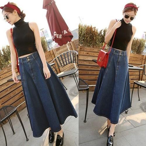 Chân váy jean dài cv9218