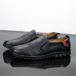 Giày lười nam thân đen đế đen siêu đẹp G456 MĐ
