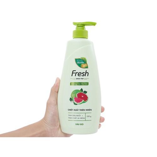 Dầu gội fresh tinh dầu bưởi + tinh chất lá neem - bổ sung tinh chất collagen