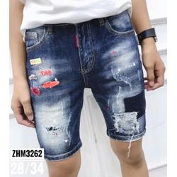Quần shorts jeans nam rách
