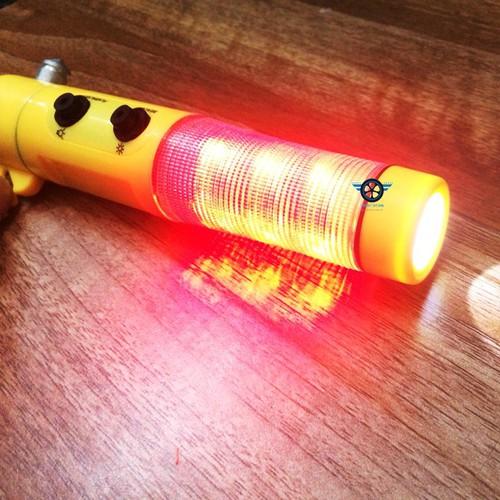 Búa phá kính thoát hiểm kèm đèn pin,đèn chớp cảnh báo an toàn