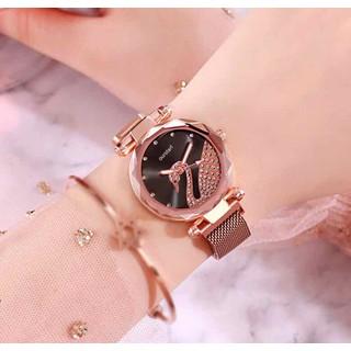 Đồng hồ nữ đồng hồ nữ cao cấp dây nam châm - đồng hồ dây nam châm thumbnail