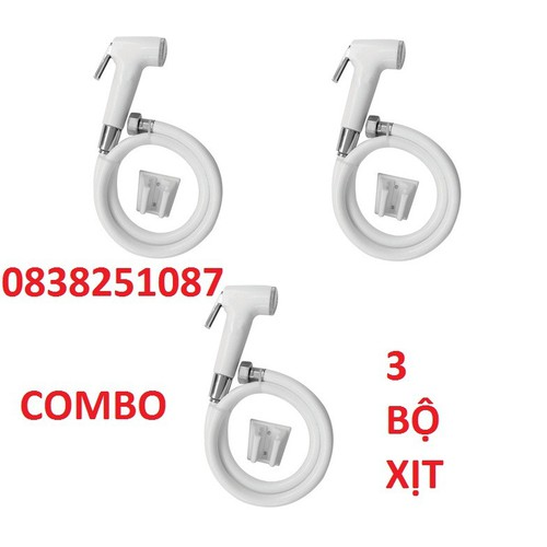 Vòi xịt vệ sinh- combo 3 bộ vòi xịt