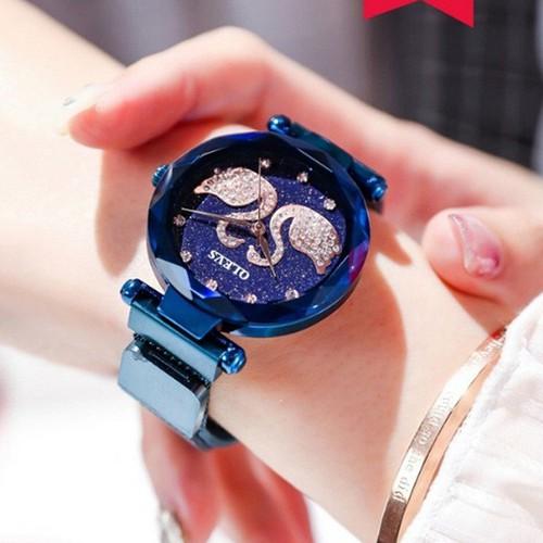Đồng hồ nữ olv1223 mặt thiên nga cao cấp