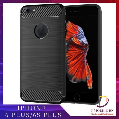 Ốp lưng iphone 6 plus 6s plus, ốp silicon mềm carbon phay xước chống sốc chống vân tay cho iphone 6 plus 6s plus