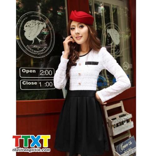 Đầm dạo phố kiểu hàn quốc mã: da2579 - đen