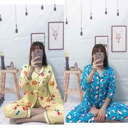 Bộ pijama kate kẹp viền nổi