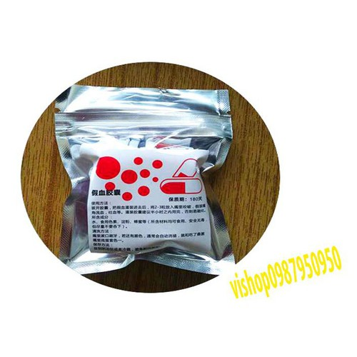 Công cụ lọ máu giả giả 10ml 6 viên máu giá dùng để chụp ảnh mã sp xa8718