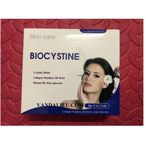 Biocystine viên uống đẹp da, mọc tóc, chống lão hóa  hộp 12 vỉ x 5 viên - 17074583 , 22397453 , 15_22397453 , 380000 , Biocystine-vien-uong-dep-da-moc-toc-chong-lao-hoa-hop-12-vi-x-5-vien-15_22397453 , sendo.vn , Biocystine viên uống đẹp da, mọc tóc, chống lão hóa  hộp 12 vỉ x 5 viên