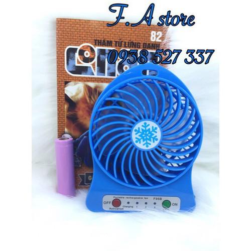 Quạt mini pin sạc cầm tay 3 chế độ gió kèm đèn pin giá sỉ vn mochi04