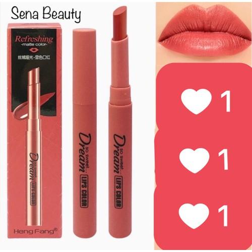 Màu 01 hồng cam nude - son heng fang lip colors