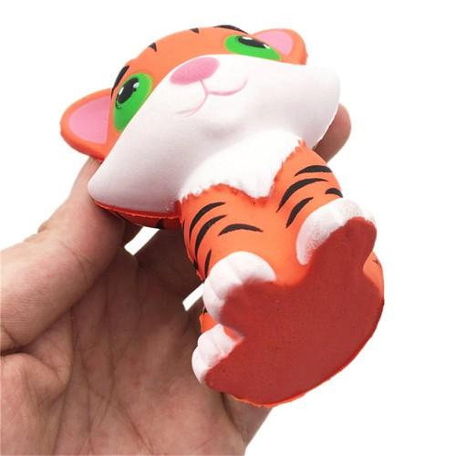 Đồ chơi nắn bóp đàn hồi giải tỏa căng thẳng tiện lợi hình con hổ dễ thương squishy