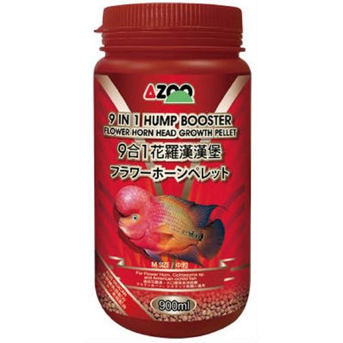 Hump booster flower horn pellet 130gram - thức ăn giúp tăng đầu và tăng trưởng cho la hán