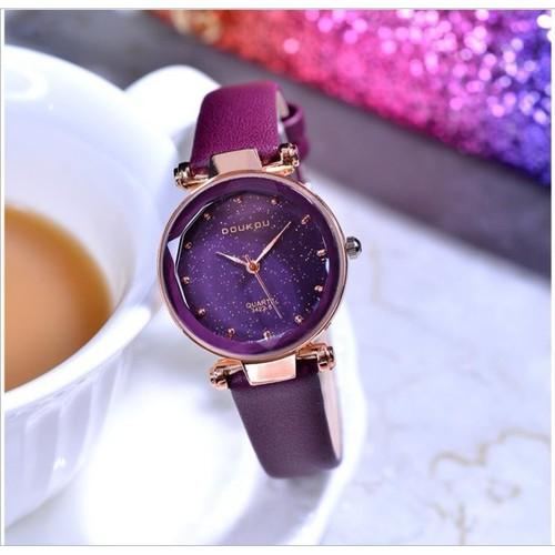 Trợ giá khủng đồng hồ nữ doukou 71720 hàng chính hãng dây da cao cấp cao cấp full box