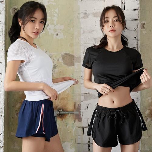 Quần ngắn short đùi thể thao nữ zipper đồ tập gym yoga nữ