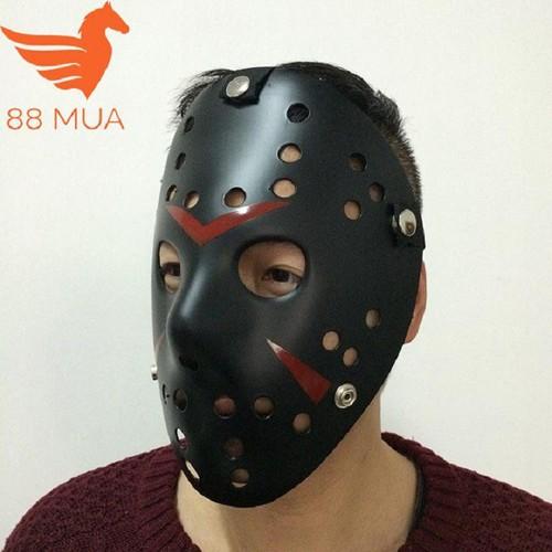 Mặt nạ jason hóa trang halloween leegoal màu đen lỗ tròn e99 sp mã lh2765