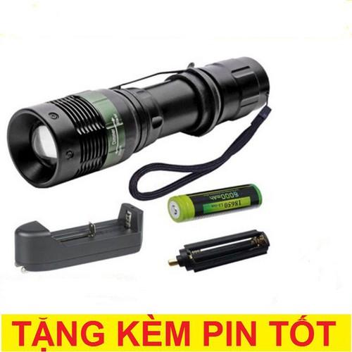 Đèn pin siêu sáng thailand hy815 đèn pin sạc buttanghinh