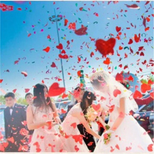Pháo giấy đám cưới trái tim ❤️loại 80cm giá rẻ nhất sp mã nc3410