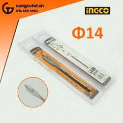 Mũi khoan khoét gỗ đuôi cá 14mm-Ingco