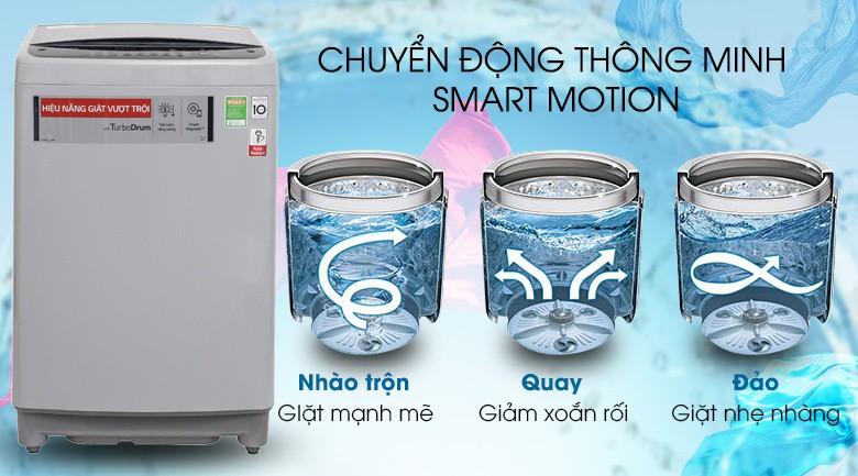 Smart Motion - Máy giặt LG Inverter 9.5 kg T2395VS2M