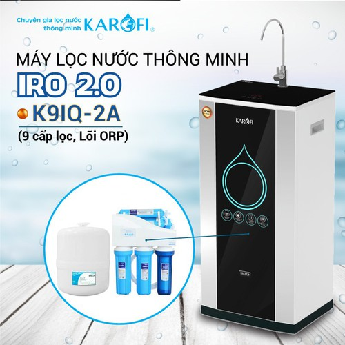 Máy lọc nước ro karofi iro 2.0 k9iq-2a 9 cấp lọc - lõi orp - 17867505 , 22423592 , 15_22423592 , 8170000 , May-loc-nuoc-ro-karofi-iro-2.0-k9iq-2a-9-cap-loc-loi-orp-15_22423592 , sendo.vn , Máy lọc nước ro karofi iro 2.0 k9iq-2a 9 cấp lọc - lõi orp