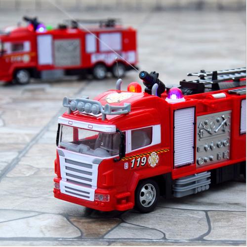 Ô tô cứu hỏa điều khiển từ xa sử dụng pin sạc phun được nước thật đồ chơi trẻ em