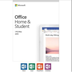 Microsoft Office Home and Student 2019 for Windows or Mac Lifetime License