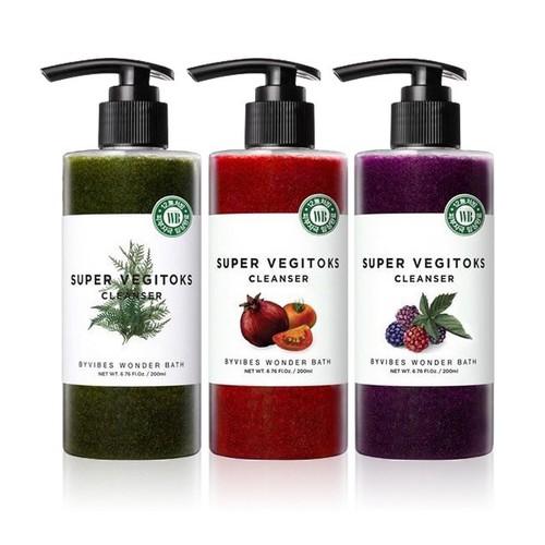 Sữa rửa mặt thải độc rau củ byvibes wonder bath super vegitoks cleanser 300ml