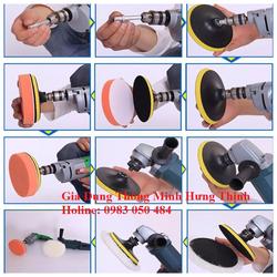 Bộ phụ kiện cho máy đánh bóng xe ô tô mini - phụ kiện đánh bóng điều hòa dùng cho máy khoan và máy mài