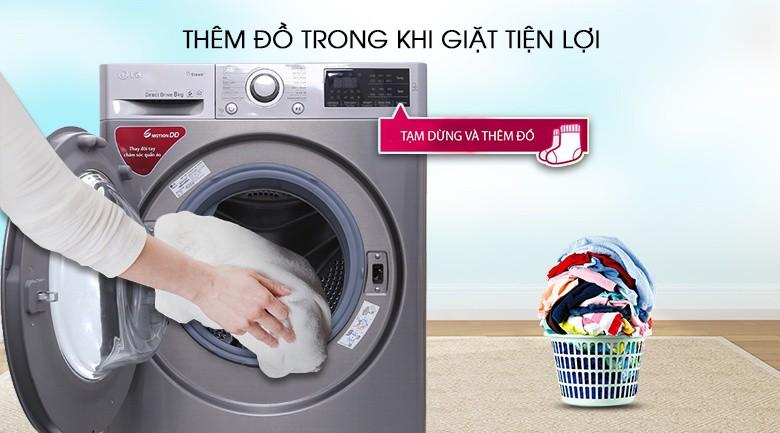 Thêm đồ trong khi giặt - Máy giặt LG Inverter 8 kg FC1408S3E