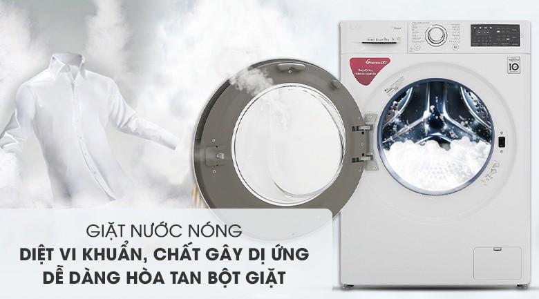Giặt nước nóng - Máy giặt LG Inverter 8 kg FC1408S5W