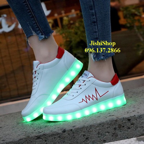 Ntđ trắng giày phát sáng đèn led 11 chế độ nhịp tim đỏ tặng dây giầy 7 màu giá sỉ xsp17 - 18091379 , 22714157 , 15_22714157 , 280000 , Ntd-trang-giay-phat-sang-den-led-11-che-do-nhip-tim-do-tang-day-giay-7-mau-gia-si-xsp17-15_22714157 , sendo.vn , Ntđ trắng giày phát sáng đèn led 11 chế độ nhịp tim đỏ tặng dây giầy 7 màu giá sỉ xsp17