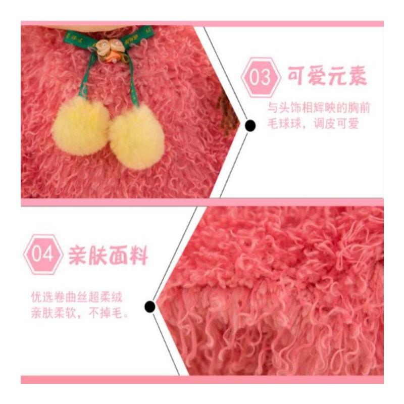 Gấu bông – gấu bông Búp bê váy hồng 60cm – bupbe60