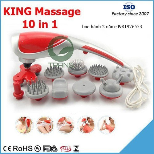 Máy massage king 10 đầu toàn thân đặc biệt tốt cho người đau xương khớp - 17857258 , 22410662 , 15_22410662 , 350000 , May-massage-king-10-dau-toan-than-dac-biet-tot-cho-nguoi-dau-xuong-khop-15_22410662 , sendo.vn , Máy massage king 10 đầu toàn thân đặc biệt tốt cho người đau xương khớp