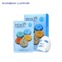 [TẶNG SỮA RỬA MẶT 150ML] Mặt nạ dưỡng ẩm - chống lão hóa Rainbow L'affair Multi-Care V5 Moisture Vitamin Mask 10 miếng x 25ml