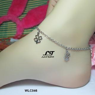 Lắc chân nữ cỏ 4 lá may mắn ver4 Không đen không gỉ sét WLC046 - WLC046 thumbnail
