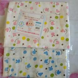 Set 2 khăn tắm xuất Nhật in hoa