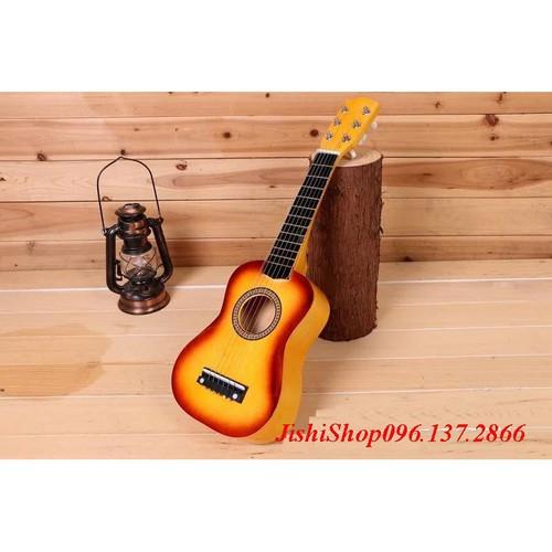Vn đàn ukulele cao cấp 58cm màu vàng nắng phối viền nâu giá sỉ tặng kèm gẩy đàn hộp đựng catton dây sơ cua