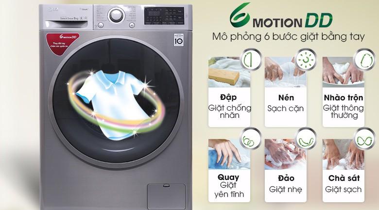6 Motion DD - Máy giặt LG Inverter 8 kg FC1408S3E