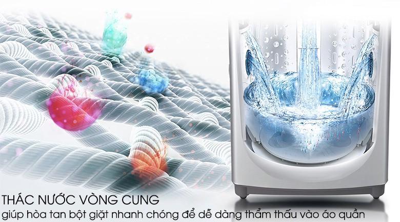 Thác nước vòng cung - Máy giặt LG Inverter 9.5 kg T2395VS2M