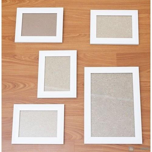 Bộ 3 khung ảnh bằng gỗ có kính và đinh ba chân miễn phí làm ảnh