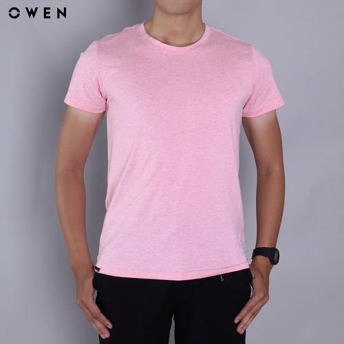 Owen - áo thun tshirt cổ tròn bodyfit - ts18226n-pi - màu hồng dâu