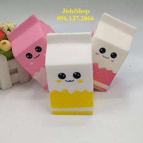 Squishy hộp sữa to đùng ảnh thật mã số sku jx9638