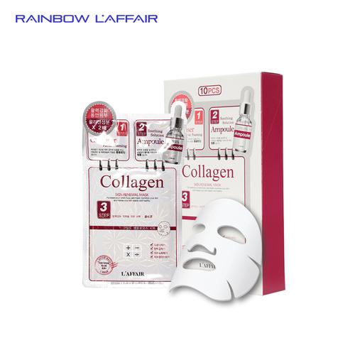 Mặt nạ chống lão hóa - trẻ hóa da 3 bước rainbow laffair collagen skin renewal mask 10 miếng x 28ml - 17859613 , 22413527 , 15_22413527 , 600000 , Mat-na-chong-lao-hoa-tre-hoa-da-3-buoc-rainbow-laffair-collagen-skin-renewal-mask-10-mieng-x-28ml-15_22413527 , sendo.vn , Mặt nạ chống lão hóa - trẻ hóa da 3 bước rainbow laffair collagen skin renewal mas