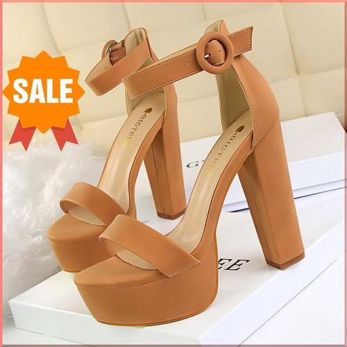Giày cao gót cao cấp xăng đan đúp đế bigtree 13cm 1550-1 chính hãng