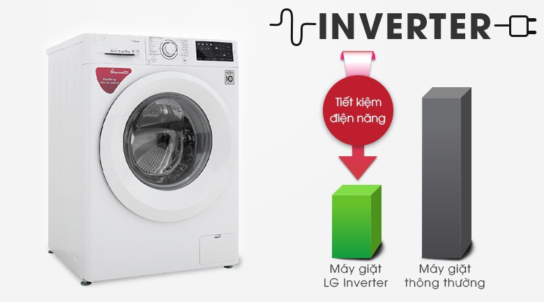 Công nghệ Inverter - Máy giặt LG Inverter 8 kg FC1408S5W