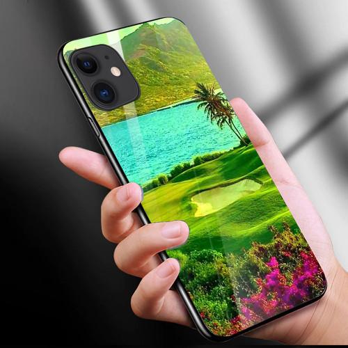 Ốp điện thoại kính cường lực cho máy iphone 11 - phong cảnh nét đẹp tự nhiên ms pcndtn009